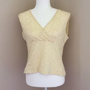 Light yellow lace top